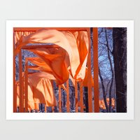 Gates Blowing In The Wind No. 1 Art Print