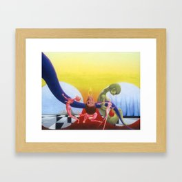 Searching For Meaning Amongst External Distractions Framed Art Print
