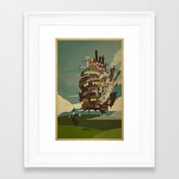 castle Framed Art Prints featuring Moving Castle by Danny Haas