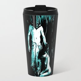 Welcome to Silent Hill - Pyramid Head, sexy erotic nude, cartoon in green tones, submissive girl Travel Mug