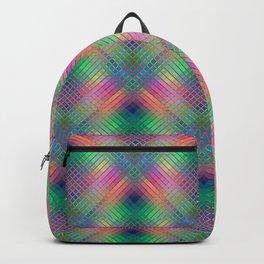 Multicoloured CrissCross Stripes Backpack