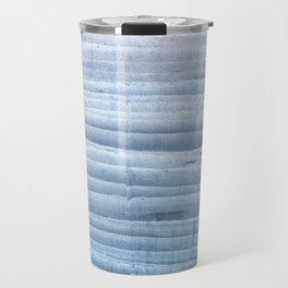 Blue waves abstract painting Travel Mug