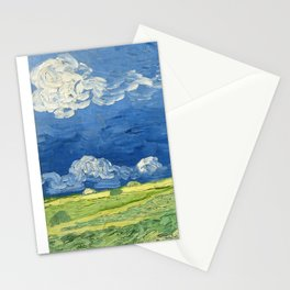 Wheatfield Under Thunderclouds by Vincent van Gogh (1890) Stationery Cards