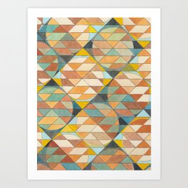 Triangles and Circles Pattern no.23 Art Print