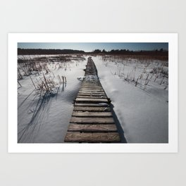 Winter at the Boardwalk Art Print