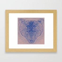 Bear in blue Framed Art Print