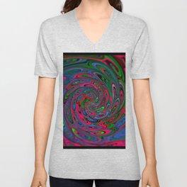 Trippy Swirl Unisex V-Neck