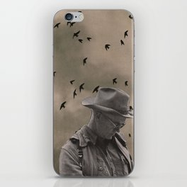 loneliness of the long distance cowboy iPhone Skin