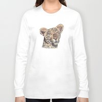 leopard Long Sleeve T-shirts featuring leopard by becbugs