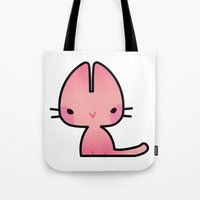 mew Tote Bags featuring Mew by denaesketch