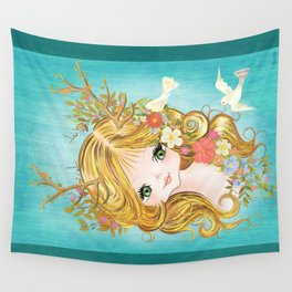 Lovely Lady Of The Woodlands Wall Tapestry