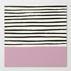 Dusty Rose & Stripes Canvas Print