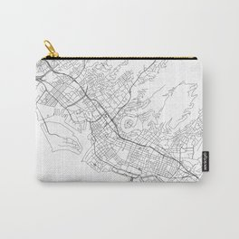 Honolulu White Map Carry-All Pouch