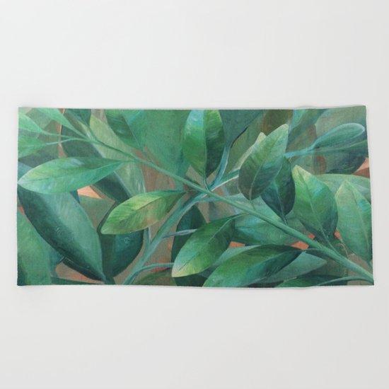Leafy Greens Beach Towel