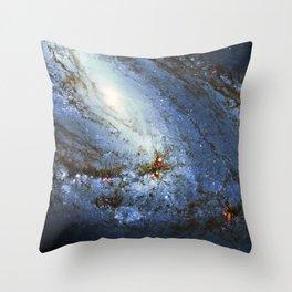 Spiral Galaxy M66 Messier 66 Throw Pillow