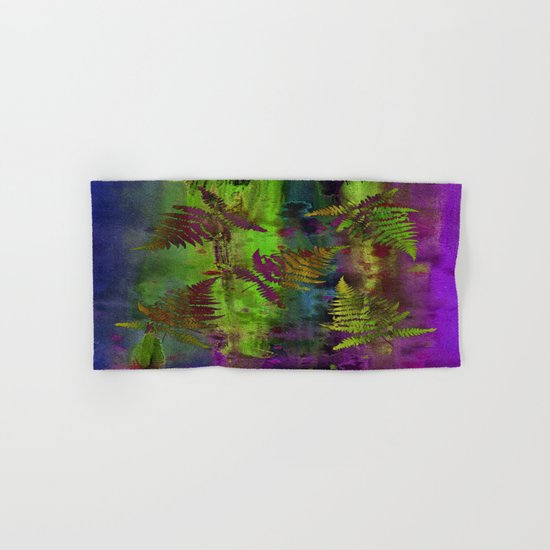 Colorful Fern Leaves Hand & Bath Towel