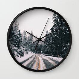 Winter Drive Wall Clock