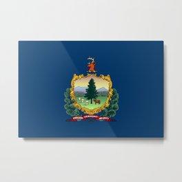 Vermont State Flag Metal Print