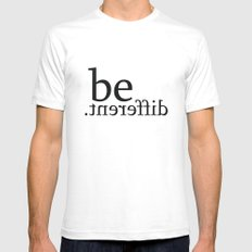 be different Mens Fitted Tee White SMALL