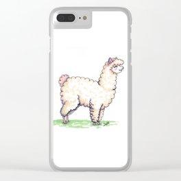 Cute alpaca Clear iPhone Case