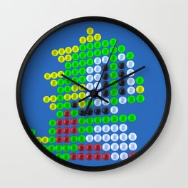 Bubble Bobble bubbles Wall Clock