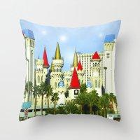 las vegas Throw Pillows featuring Vegas by Peaky40