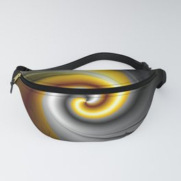 Black Gold Spiral Abstract Fanny Pack