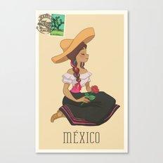 México postal  Canvas Print