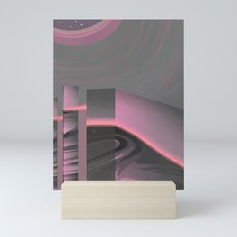 Claraboya, Geodesic Habitacle, Pink neon room Mini Art Print