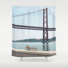 Jackie Lisbon Shower Curtain