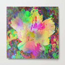 Sun Drenched Tropical Flower Metal Print