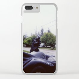 Bat on stop of moblie Clear iPhone Case
