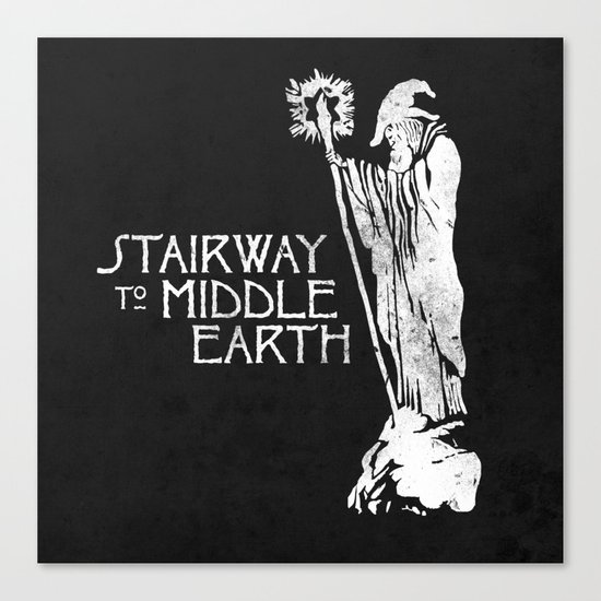 stairway to middle-earth Canvas Print