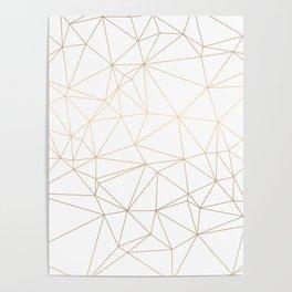 Geometric Gold Minimalist Design Poster