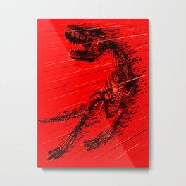 Extinction of a T Rex Metal Print