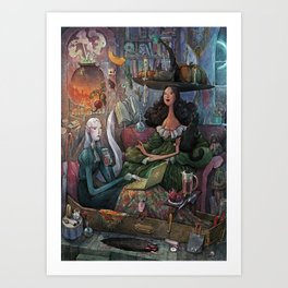 Hallow-In Art Print
