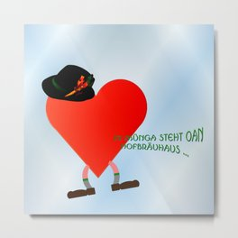 Little Munich heart ... Metal Print