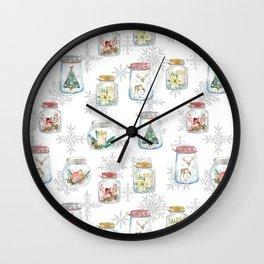 Christmas glass jars Wall Clock