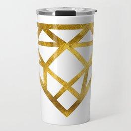 Gold Diamond Travel Mug