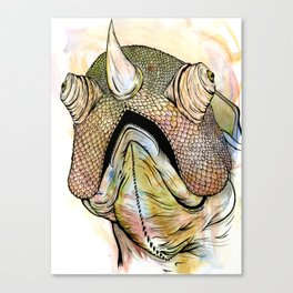 Horned Iguana Canvas Print