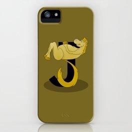 Pony Monogram Letter J iPhone Case