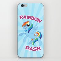 mlp iPhone & iPod Skins featuring MLP FiM: Rainbow Dash by Yiji