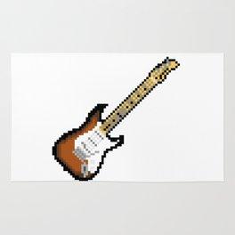8 bit guitar Rug