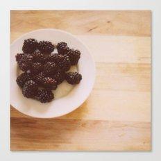 Summer Blackberries Canvas Print
