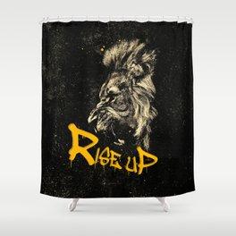 Rise Up - Roaring Lion Revolution Art Shower Curtain