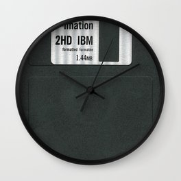 Retro 80's objects - Diskette Wall Clock