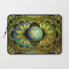 The Enchanted Feathers of the Golden Snitch Laptop Sleeve
