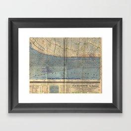 Vintage Utah Beach D-Day Invasion Map (1944) Framed Art Print