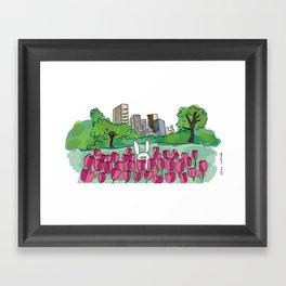 Tulip Bunny Framed Art Print