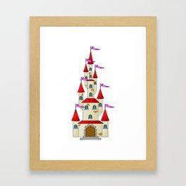 Fairytale Princess Castle Framed Art Print